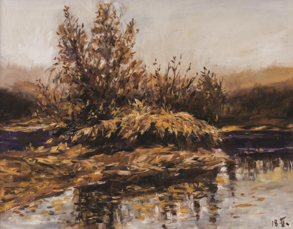 Őszi táj - Mura - Dráva találkozása