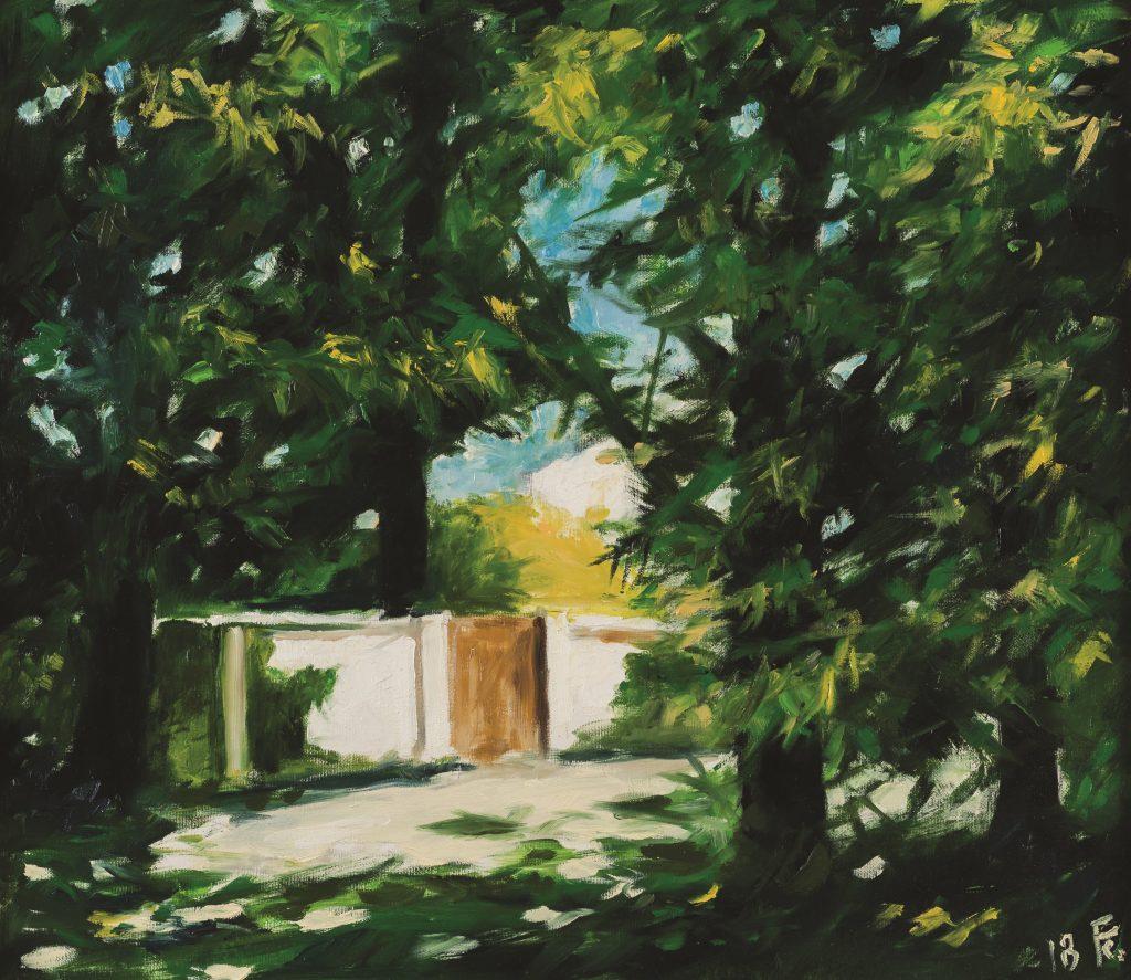 Napsütötte kerítés