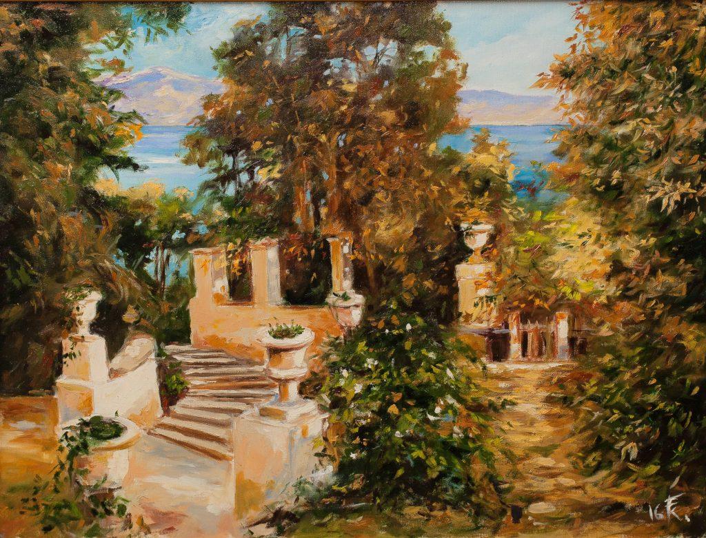 Korfu – parkrészlet