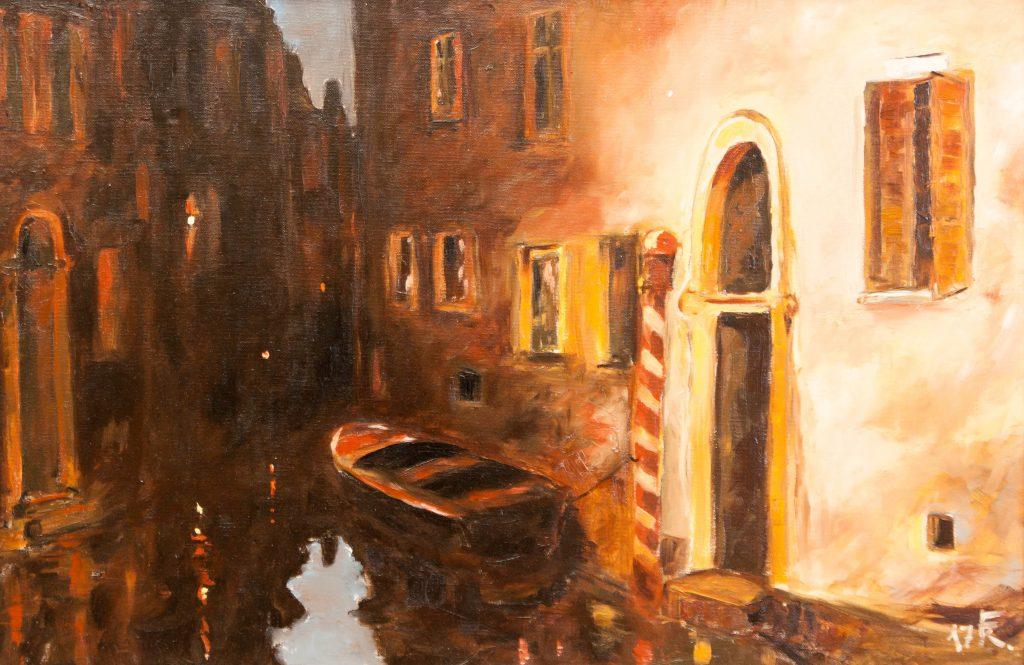 Velence – csatorna éjjel