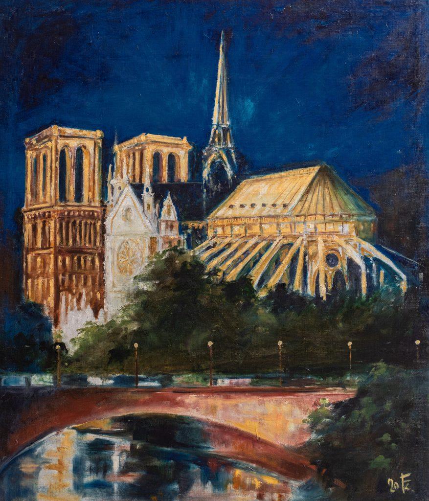 Notre Dame esti kivilágításban