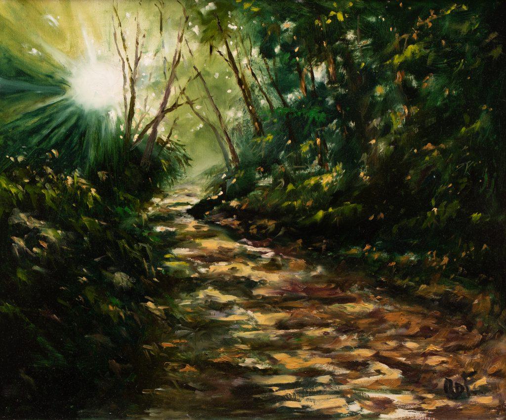 Nyári reggel az erdőn (Zselic)